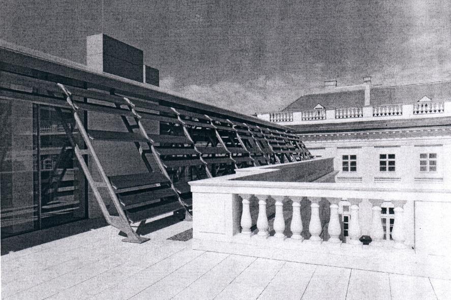 Steel roof construction, Austria