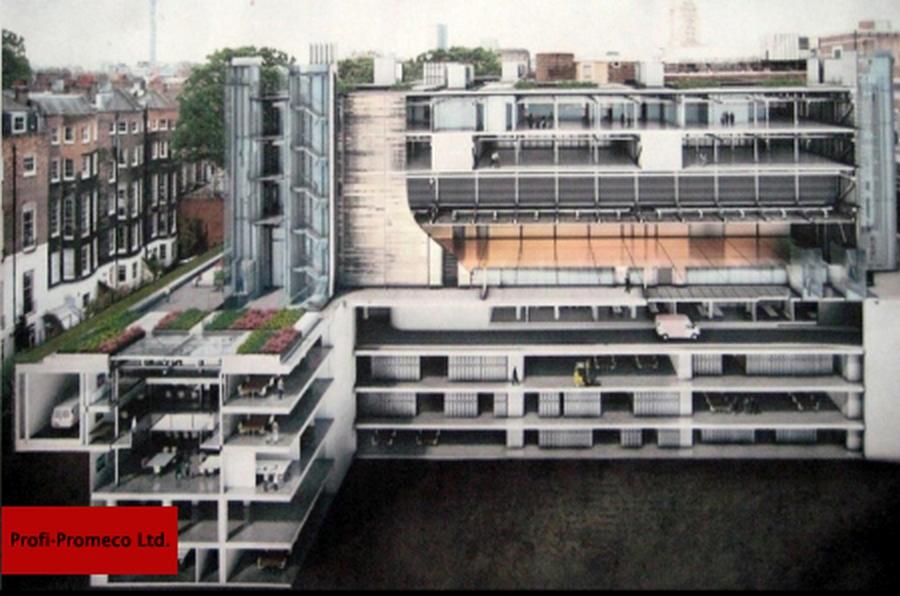 Steel facades for new exhibition halls of British Museum, London (UK)